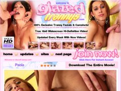 GlazedTrannys.com is the best site for free tranny and shemale facial cumshot porn.