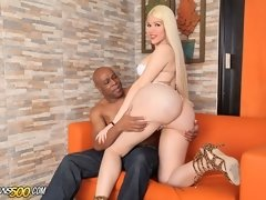 Watch the sexy Lexie Beth take in black dick!