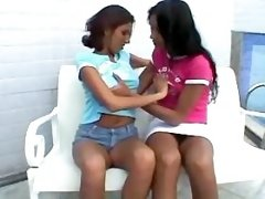 Tranny n girl foreplay